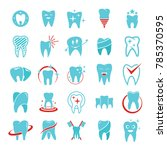 tooth dental care logo icons... | Shutterstock .eps vector #785370595
