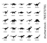 dinosaur types signed name... | Shutterstock .eps vector #785373781