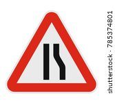 narrowing right road icon flat