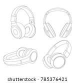 headphones vector illustration  ...