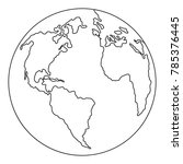 continent planet icon. outline... | Shutterstock .eps vector #785376445