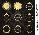 gold frame made in vector....   Shutterstock .eps vector #785380789