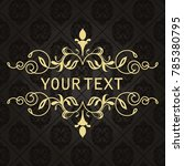 gold frame made in vector....   Shutterstock .eps vector #785380795