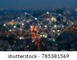 big data connections. iot  ... | Shutterstock . vector #785381569