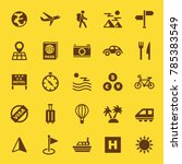 travel solid icons  vector... | Shutterstock .eps vector #785383549