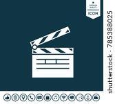 clapperboard symbol icon   Shutterstock .eps vector #785388025