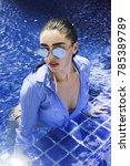 fashion girl beautiful woman in ... | Shutterstock . vector #785389789