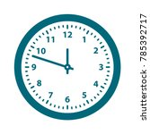 clock icon  flat design best... | Shutterstock .eps vector #785392717