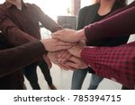 successful business team with... | Shutterstock . vector #785394715