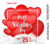 valentines day banner with 25 ... | Shutterstock .eps vector #785398909