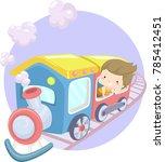 illustration of a kid girl... | Shutterstock .eps vector #785412451