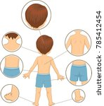 illustration of a kid boy... | Shutterstock .eps vector #785412454