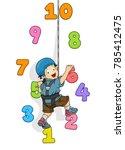 illustration of a kid boy... | Shutterstock .eps vector #785412475