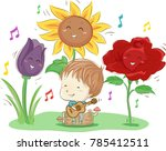 illustration of a kid boy... | Shutterstock .eps vector #785412511
