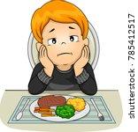 illustration of a kid boy in... | Shutterstock .eps vector #785412517