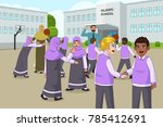 a vector illustration of muslim ... | Shutterstock .eps vector #785412691