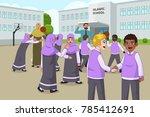 a vector illustration of muslim ... | Shutterstock .eps vector #785412691