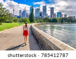 sydney city girl tourist... | Shutterstock . vector #785412787