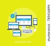 responsive web design concept | Shutterstock .eps vector #785416894