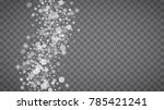 isolated snowflakes on... | Shutterstock .eps vector #785421241
