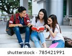 group of attractive young...   Shutterstock . vector #785421991