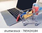 shopping online concept ... | Shutterstock . vector #785424184