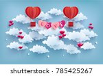 illustration of love and... | Shutterstock .eps vector #785425267