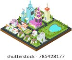 graphic city building  real...   Shutterstock .eps vector #785428177