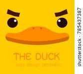 male  duck flat creative logo ... | Shutterstock .eps vector #785437387