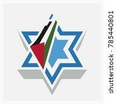 hexagram. david star. palestine ... | Shutterstock .eps vector #785440801