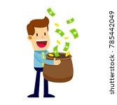 vector stock of a businessman... | Shutterstock .eps vector #785442049