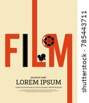 movie and film modern retro...   Shutterstock .eps vector #785443711