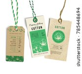 vintage style tags with hand... | Shutterstock .eps vector #785448694
