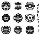 vintage retro vector logo for... | Shutterstock .eps vector #785450254