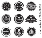 vintage retro vector logo for... | Shutterstock .eps vector #785450257