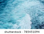 deep blue indian ocean waves  | Shutterstock . vector #785451094