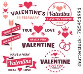 valentine template banner... | Shutterstock .eps vector #785451991