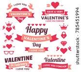 valentine template banner...   Shutterstock .eps vector #785451994