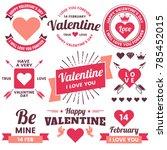 valentine template banner...   Shutterstock .eps vector #785452015