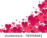 valentines day  background with ... | Shutterstock .eps vector #785458681