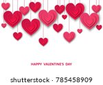 valentines day  background with ... | Shutterstock .eps vector #785458909