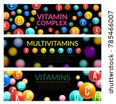 vitamin and mineral complex 3d... | Shutterstock .eps vector #785466007