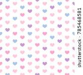 heart seamless pattern vector... | Shutterstock .eps vector #785468581
