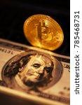 single bitcoin coin or icon...   Shutterstock . vector #785468731