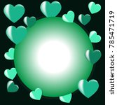 decorative valentine background ... | Shutterstock .eps vector #785471719