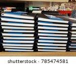 note book stacked. | Shutterstock . vector #785474581