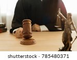 justice and law concept. male... | Shutterstock . vector #785480371