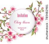 cherry blossoms illustration.   ... | Shutterstock .eps vector #785482981