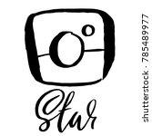 vintage handdrawn photo camera... | Shutterstock .eps vector #785489977