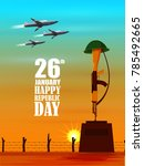 vector illustration of airplane ... | Shutterstock .eps vector #785492665